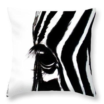 Miss Zebbie Throw Pillow