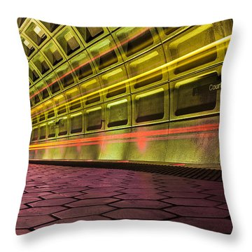 Missed Train Throw Pillow
