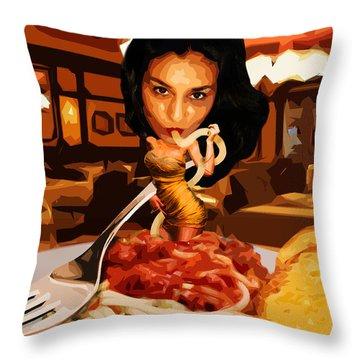 Missghetti Throw Pillow
