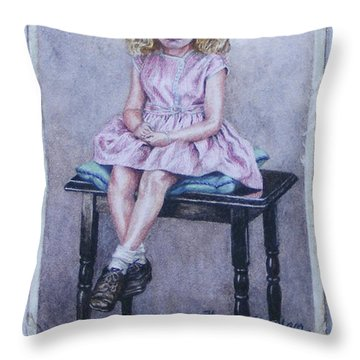 Missing Daddy, Devonshire 1940 Throw Pillow