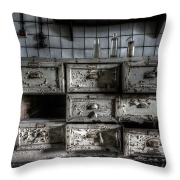 Throw Pillow featuring the digital art Missing Draw by Nathan Wright
