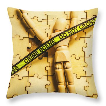Missing Piece Of The Puzzle Throw Pillow