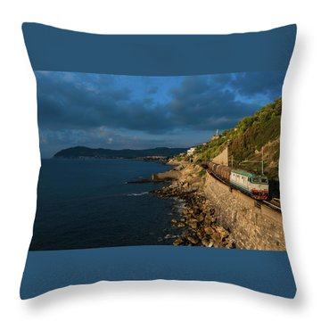 Missing Railway Throw Pillow by Andrea Sosio