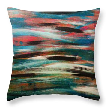 Missing Strokes Throw Pillow