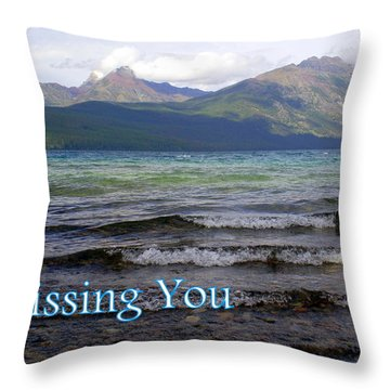 Missing You 1 Throw Pillow by Marty Koch