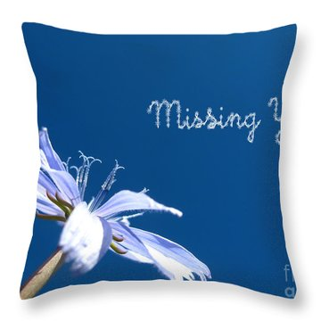 Missing You Blues Throw Pillow
