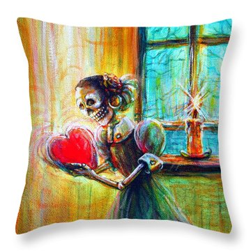 Missing You Throw Pillow by Heather Calderon