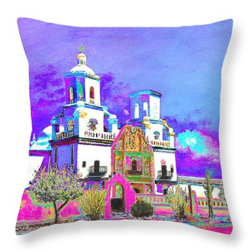 Mission Abstract 3 Throw Pillow