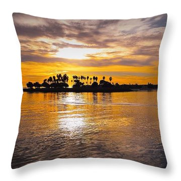 Mission Bay Purple Sunset By Jasna Gopic Throw Pillow by Jasna Gopic