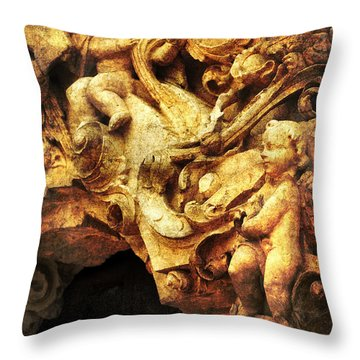 Mission Cherubs Throw Pillow