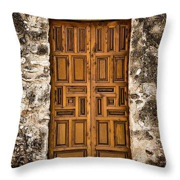 Mission Concepcion Door #3 Throw Pillow