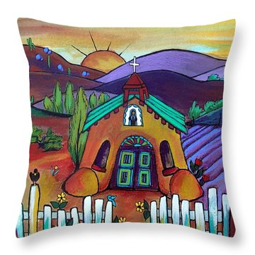 Mission Del Corazon Throw Pillow