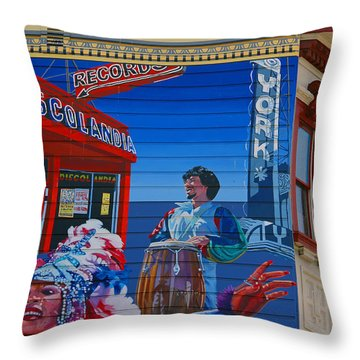 @mission District Sf Throw Pillow