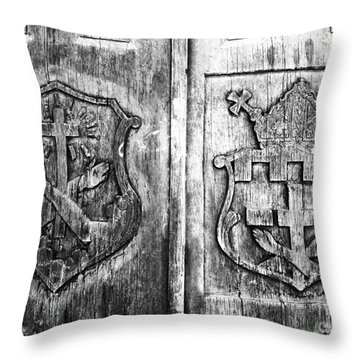 Mission Doors Throw Pillow by David Lee Thompson