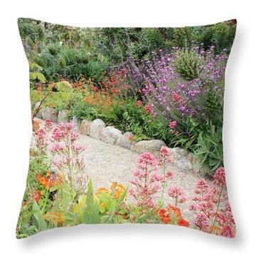 Mission Garden Throw Pillow by Carol Groenen