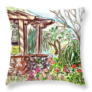 Mission Garden San Louis Obispo Throw Pillow