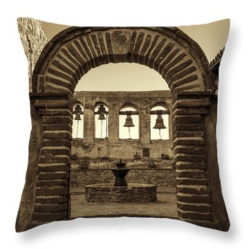 Mission Gate And Bells #2 Throw Pillow