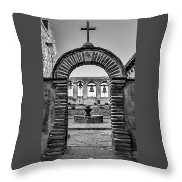 Mission Gate And Bells #3 Throw Pillow