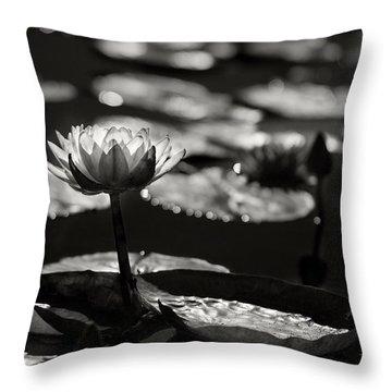 Mission Lotus Throw Pillow