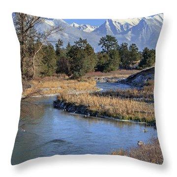 Mission Mountains Throw Pillow