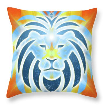 Mission Piece 2b Lions Gate Throw Pillow by Ginny Gaura