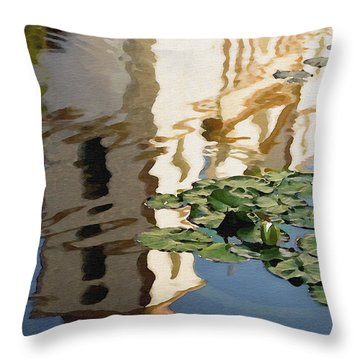 Mission Reflection Throw Pillow by Sharon Foster