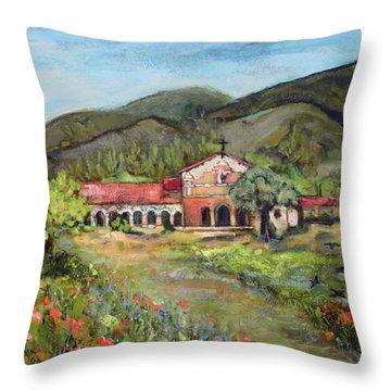 Mission San Antonio De Padua Throw Pillow