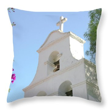 Mission San Diego Bell Tower Throw Pillow