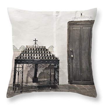 Mission San Diego - Confessional Door Throw Pillow