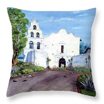 Mission San Diego De Alacal Throw Pillow
