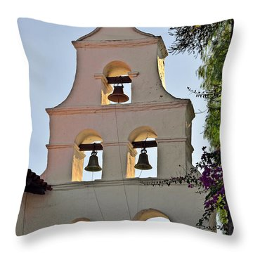 Mission San Diego De Alcala Bell Tower Throw Pillow