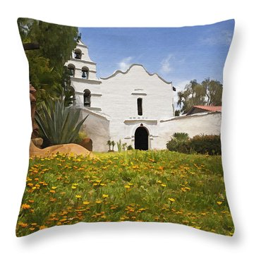 Mission San Diego De Alcala Throw Pillow