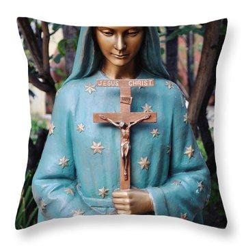 Throw Pillow featuring the photograph Mission San Fernando Rey De Espana by Kyle Hanson