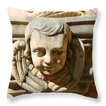 Throw Pillow featuring the photograph Mission San Jose Angel by Jeanette French