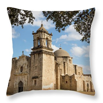 Throw Pillow featuring the photograph Mission San Jose by Mary Jo Allen
