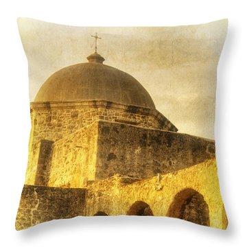 Mission San Jose San Antonio Texas Throw Pillow