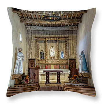 Throw Pillow featuring the photograph Mission San Juan Capistrano Sanctuary - San Antonio by Stephen Stookey