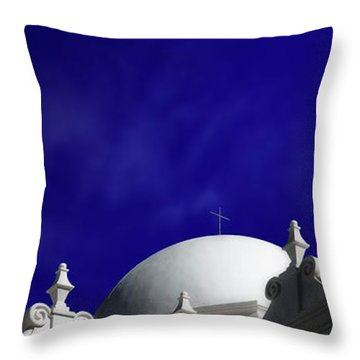 Mission San Xavier Del Bac Throw Pillow by Gary Warnimont