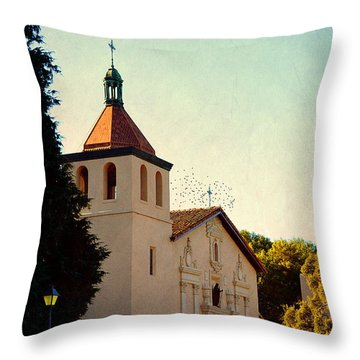 Throw Pillow featuring the photograph Mission Santa Clara - California by Glenn McCarthy Art and Photography
