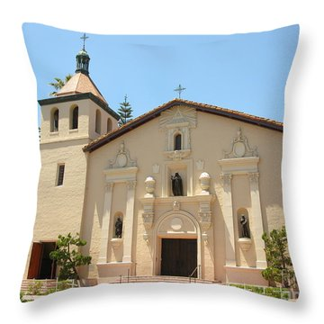 Mission Santa Clara Throw Pillow by Mini Arora