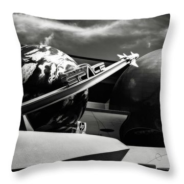 Mission Space Black And White Throw Pillow by Eduard Moldoveanu