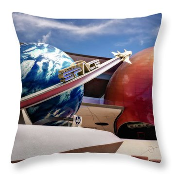 Mission Space Throw Pillow by Eduard Moldoveanu