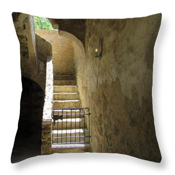Mission Stairway  Throw Pillow