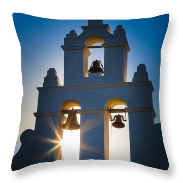Mission Sunset Throw Pillow by Inge Johnsson