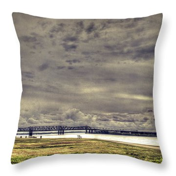 Mississipi River Throw Pillow