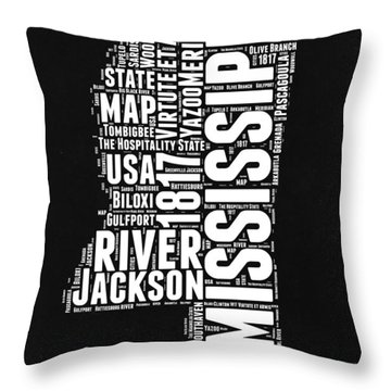 Mississippi River Throw Pillows