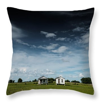 Mississippi Delta Homesteads Throw Pillow