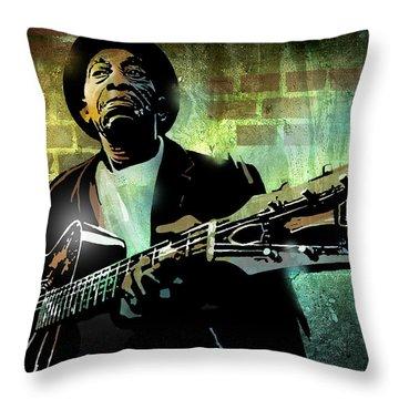 Mississippi John Hurt Throw Pillow by Paul Sachtleben