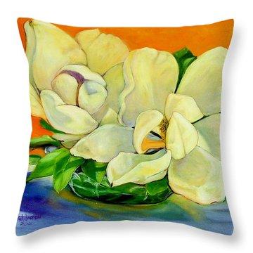 Mississippi Magnolias Throw Pillow