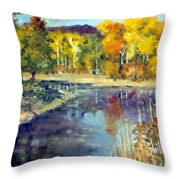 Throw Pillow featuring the painting Mississippi Mix by Jim Phillips